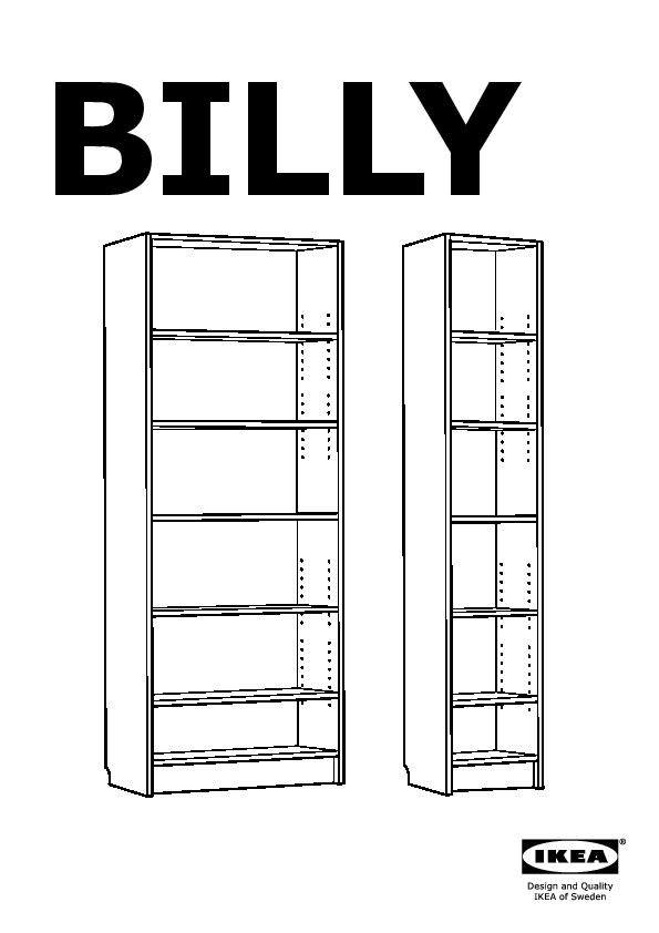 billy libreria assembly instruction