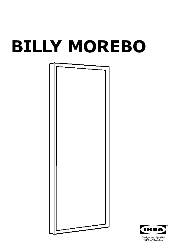 Ikea Libreria Billy Ante.Billy Billy Morebo Bookcase With Glass Doors Birch Veneer Ikea