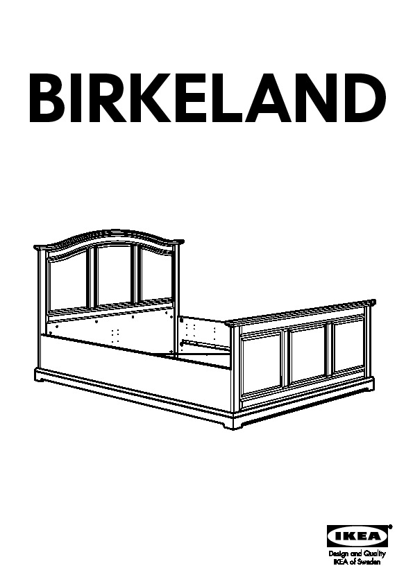 birkeland bed frame white lur y ikea united states ikeapedia. Black Bedroom Furniture Sets. Home Design Ideas