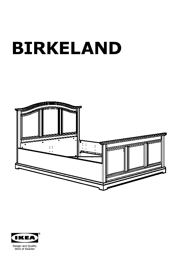 birkeland cadre de lit ikea france ikeapedia. Black Bedroom Furniture Sets. Home Design Ideas
