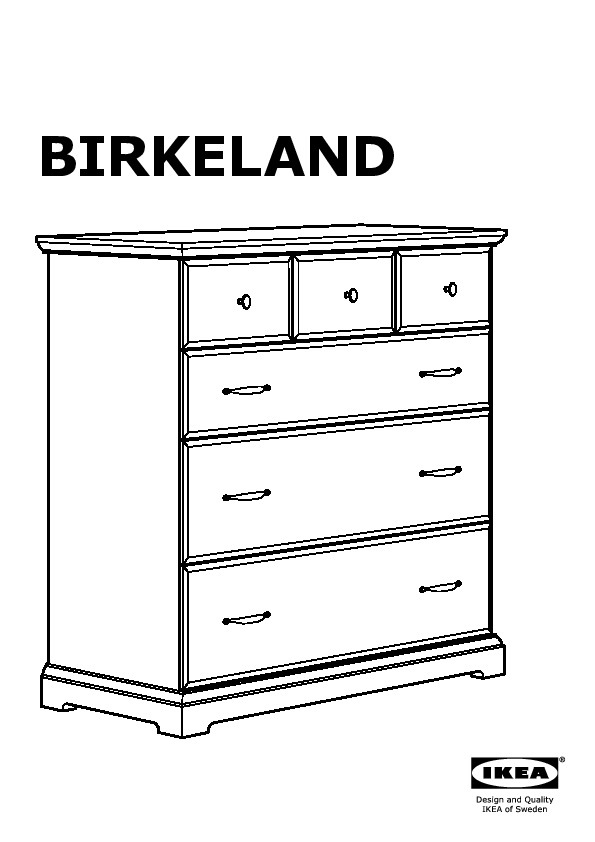 birkeland commode 6 tiroirs blanc ikea france ikeapedia. Black Bedroom Furniture Sets. Home Design Ideas
