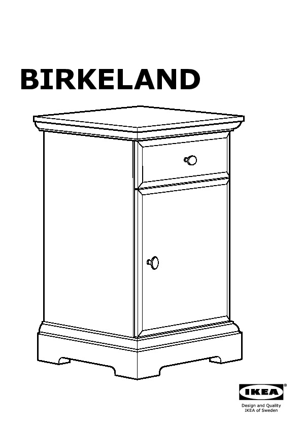 Birkeland table de chevet blanc ikea france ikeapedia for Table de chevet ikea