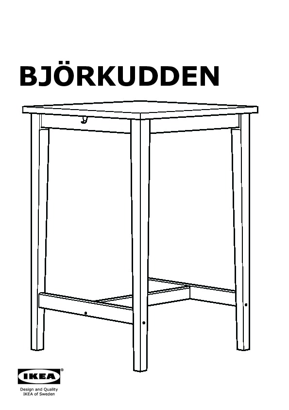 table de bar ikea bjorkudden. Black Bedroom Furniture Sets. Home Design Ideas