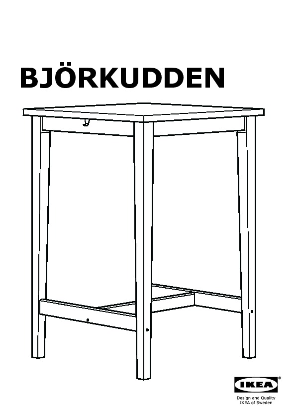 bj rkudden table de bar bouleau ikea france ikeapedia. Black Bedroom Furniture Sets. Home Design Ideas