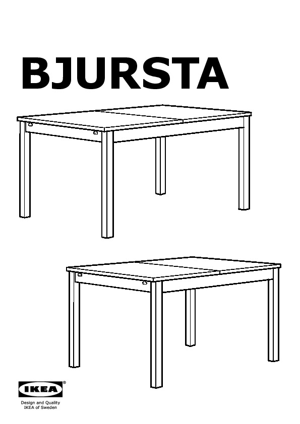 Latest bjursta table extensible with table a rallonge ikea for Table extensible ikea bjursta brun noir
