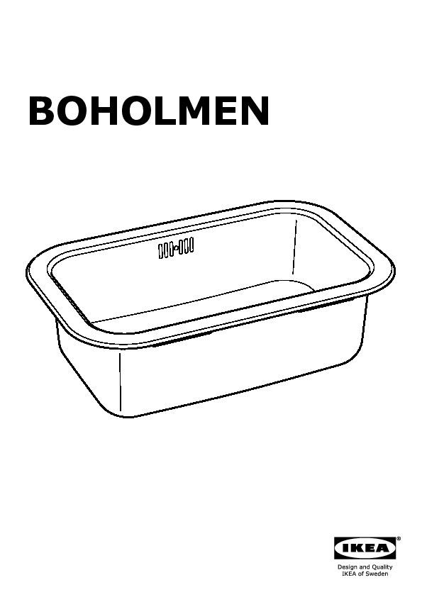 latest boholmen vier encastrer bac with evier 1 bac ikea. Black Bedroom Furniture Sets. Home Design Ideas