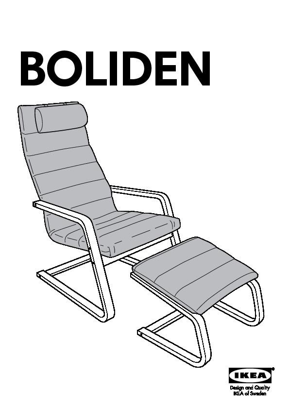 Ikea Boliden Fauteuil.Boliden Armchair And Footstool Beech Colour Genarp Light