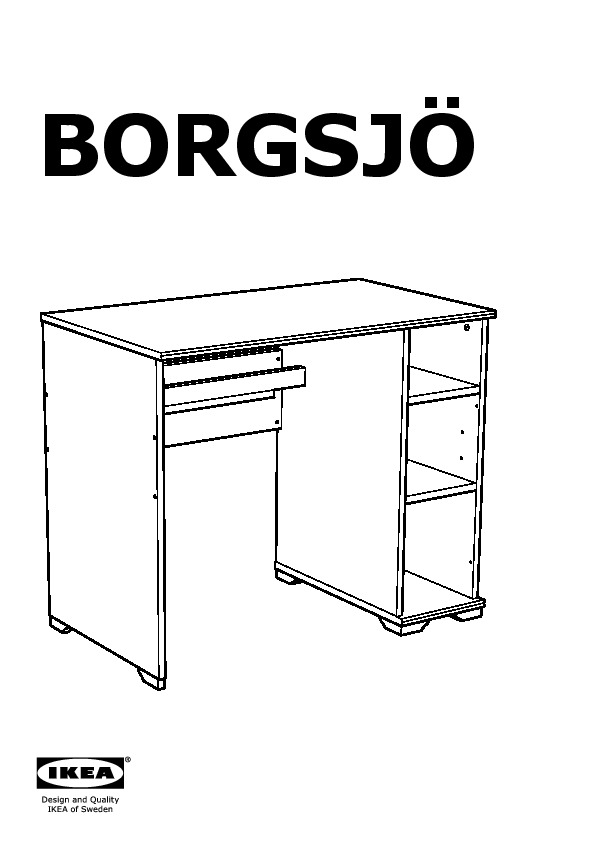 borgsj bureau blanc ikea france ikeapedia. Black Bedroom Furniture Sets. Home Design Ideas