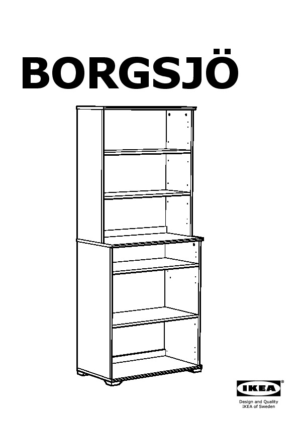 borgsj tag re avec panneau portes vitr es blanc ikea. Black Bedroom Furniture Sets. Home Design Ideas
