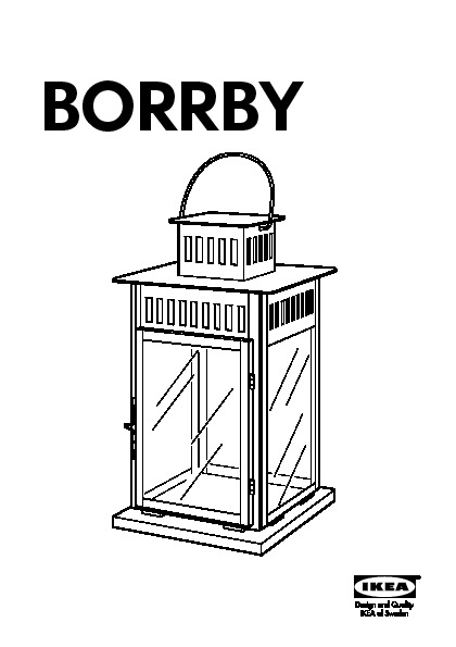 borrby lanterne pour bougie bloc noir ikea france ikeapedia. Black Bedroom Furniture Sets. Home Design Ideas