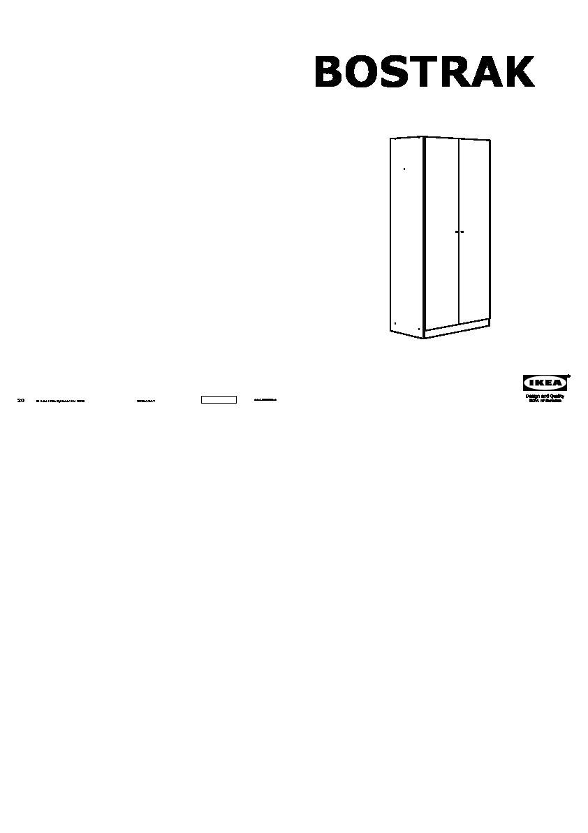 Bostrak Armoire Penderie Blanc Ikea France Ikeapedia