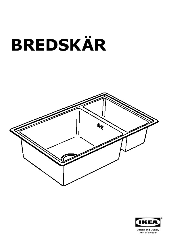 bredsk r vier encastr 1 bac acier inoxydable ikea france ikeapedia. Black Bedroom Furniture Sets. Home Design Ideas