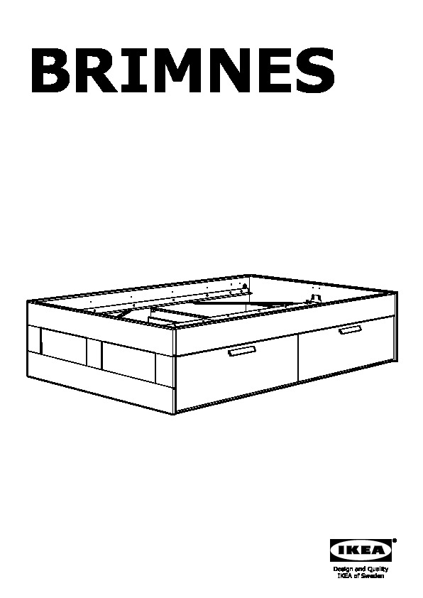 Brimnes Bed Frame With Storage, Ikea Brimnes Bed Frame With Storage Instructions
