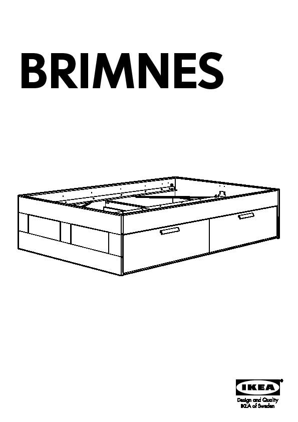 Brimnes cadre lit rangement ikea france ikeapedia - Notice lit ikea ...