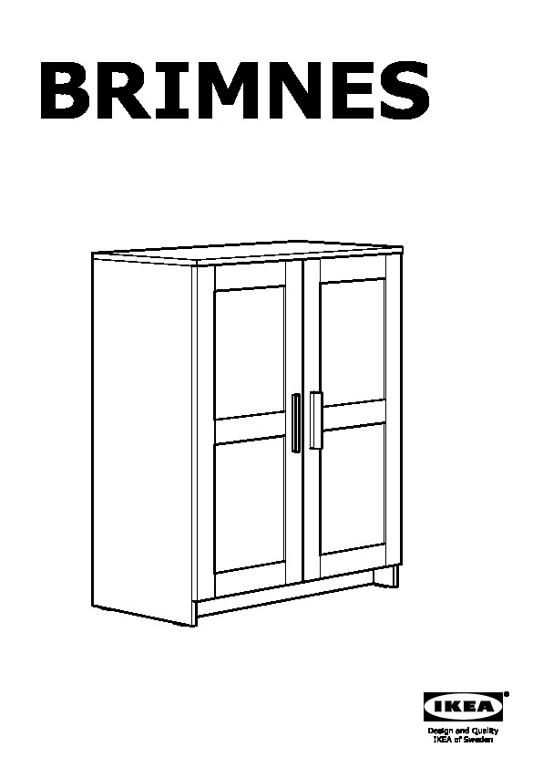 BRIMNES Cabinet with doors white (IKEA United States) - IKEAPEDIA