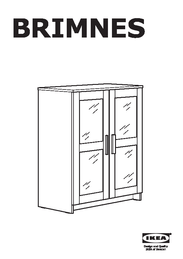 BRIMNES Armoire avec portes