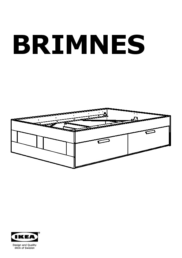 Brimnes Cadre Lit Avec Rangement Blanc, Lönset (Ikea France