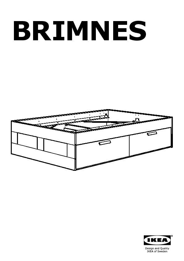 Brimnes cadre de lit rangement t te de lit blanc ikea - Cadre de lit avec rangement ...
