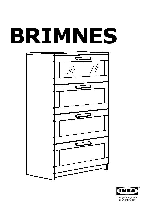 Brimnes Cassettiera Con 4 Cassetti.Brimnes Cassettiera Con 4 Cassetti Nero Vetro Smerigliato Ikea