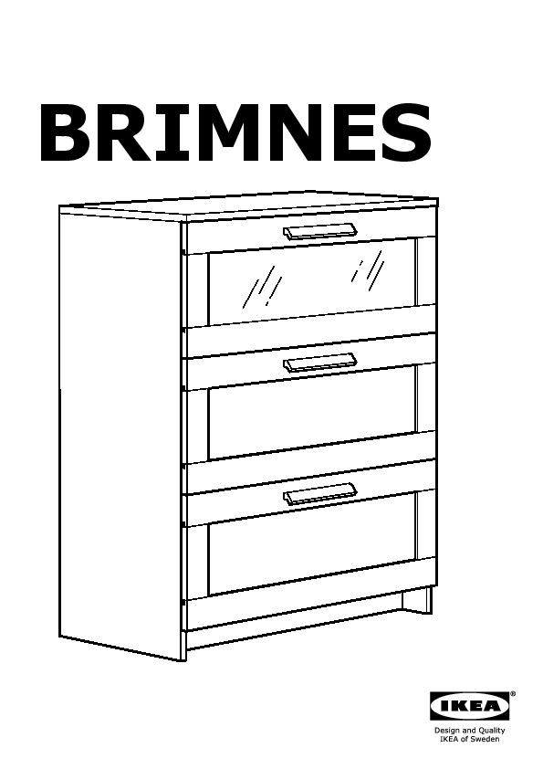 Brimnes commode 3 tiroirs noir verre d poli ikea canada french ikeapedia - Commode brimnes ikea 3 tiroirs ...