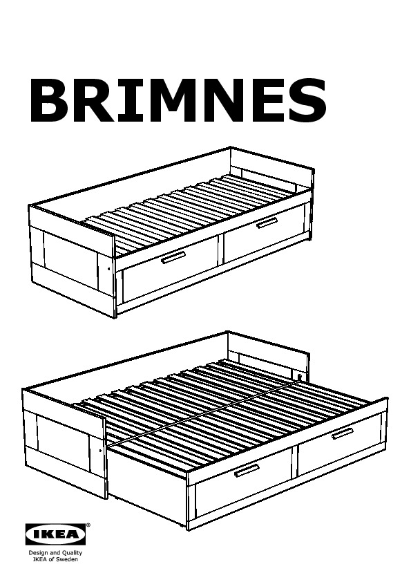 Ikea brimnes daybed assembly instructions best ikea for Manuel ikea daybed