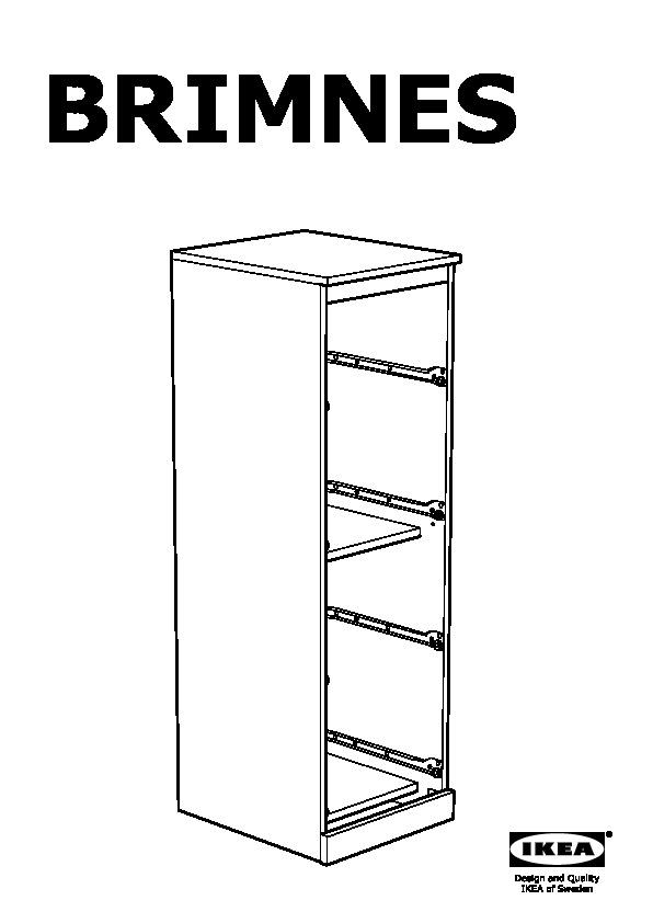 BRIMNES 4-drawer chest