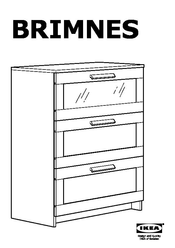 Brimnes 3 Drawer Chest Red Ikea United States Ikeapedia
