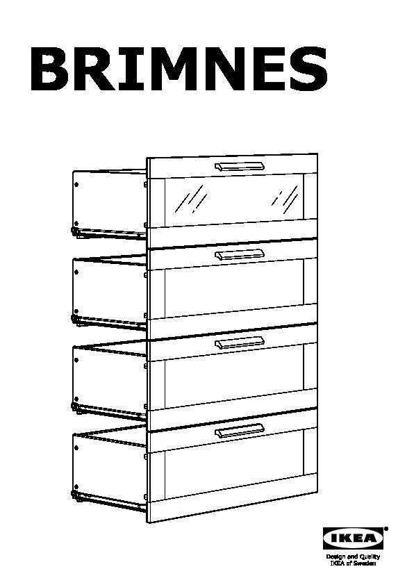 Brimnes 4 Drawer Dresser Black Frosted