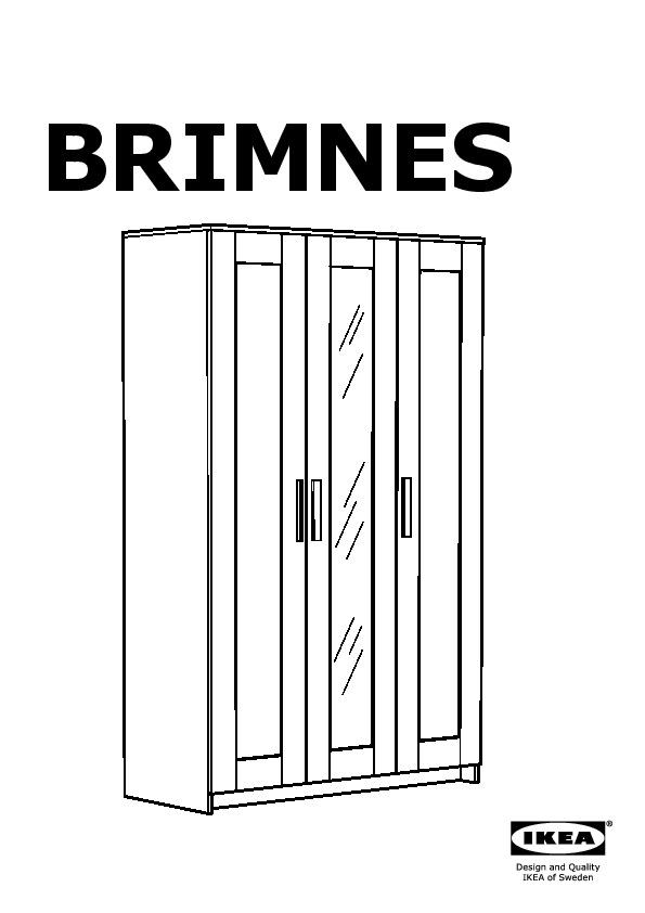 Armadio Ikea Brimnes 2 Ante.Brimnes Guardaroba A 3 Ante Bianco Ikea Italy Ikeapedia
