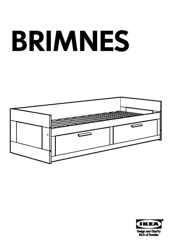 Brimnes Structure Lit D Appoint Blanc Ikea Canada French