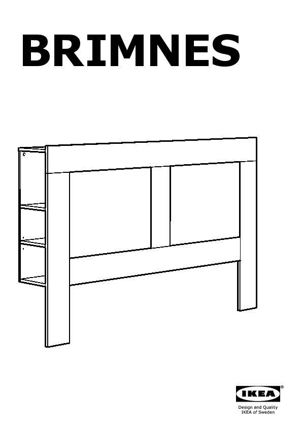 Brimnes Tete De Lit Avec Rangement Blanc Ikea France Ikeapedia
