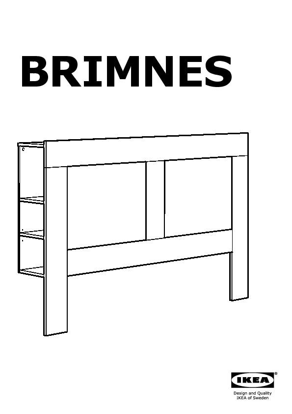 Brimnes Struct De Lit Rangement Tete De Lit Noir Ikea Canada