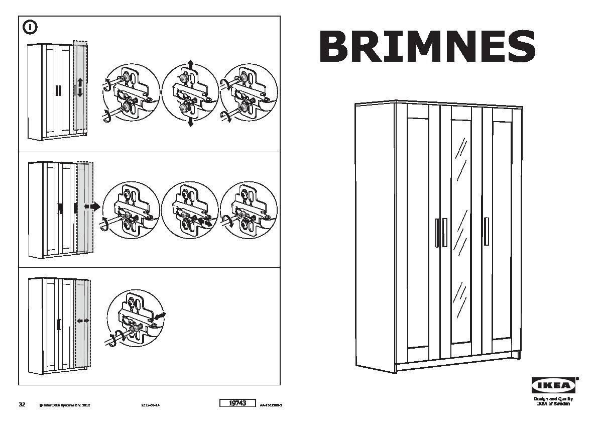 BRIMNES Wardrobe with 3 doors oak effect (IKEA United Kingdom) IKEAPEDIA