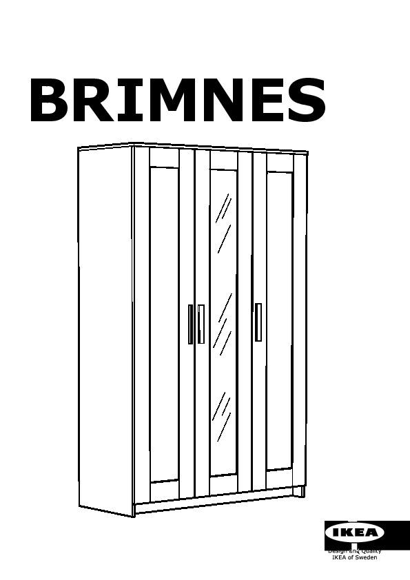 BRIMNES Wardrobe with 3 doors