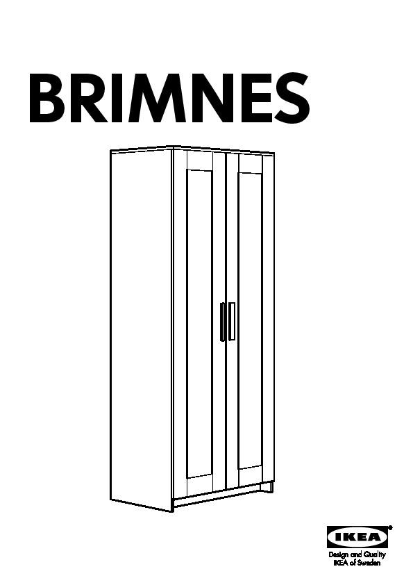 Brimnes Armoire 2 Portes Blanc Ikea France Ikeapedia