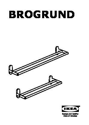 Brogrund barre porte serviettes acier inoxydable ikea for Porte serviette ikea
