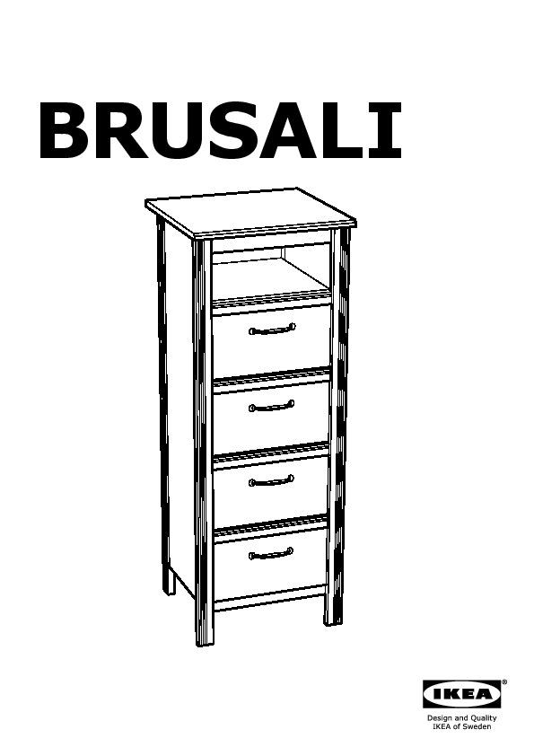 brusali commode 4 tiroirs blanc ikea france ikeapedia. Black Bedroom Furniture Sets. Home Design Ideas