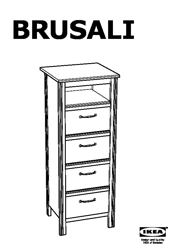 brusali 4 drawer chest white ikea canada english ikeapedia. Black Bedroom Furniture Sets. Home Design Ideas