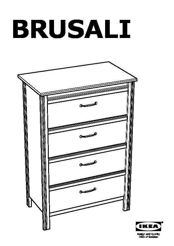 brusali 4 drawer dresser brown ikea canada english ikeapedia. Black Bedroom Furniture Sets. Home Design Ideas