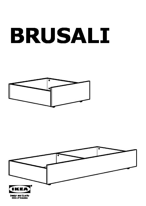 Brusali struttura letto con 4 cassetti marrone l nset - Cassetti sotto il letto ...