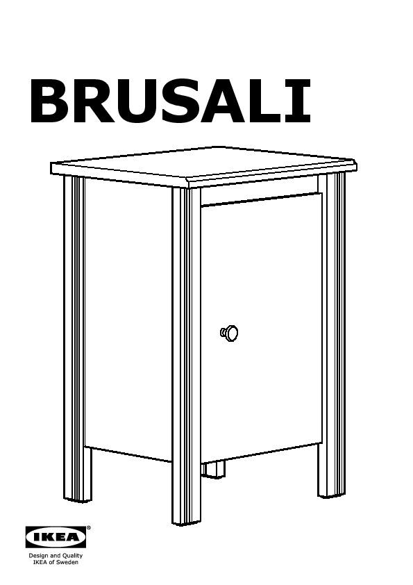 simple brusali table de chevet with chevet blanc ikea. Black Bedroom Furniture Sets. Home Design Ideas