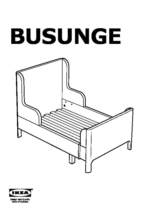 Busunge extendable bed light pink ikea united states for Ikea besta instructions de montage