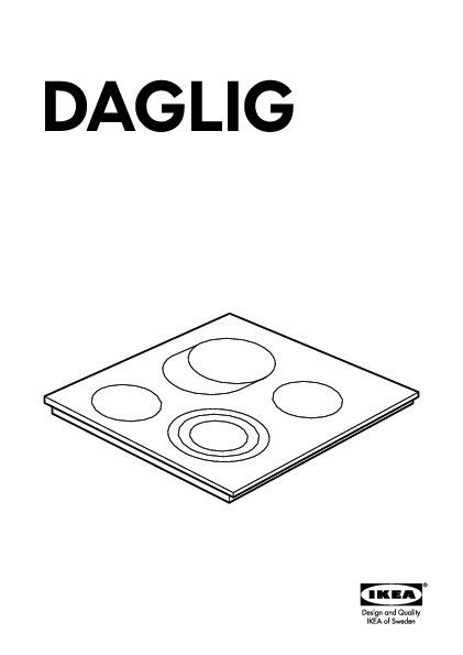 daglig table de cuisson vitroc ramique noir ikea france. Black Bedroom Furniture Sets. Home Design Ideas