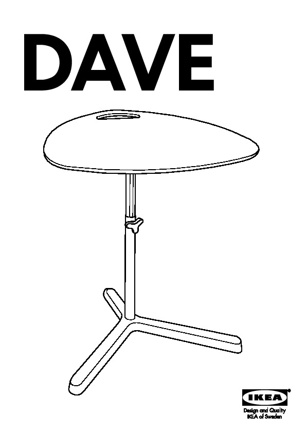 Dave Laptop Table Black Ikea United