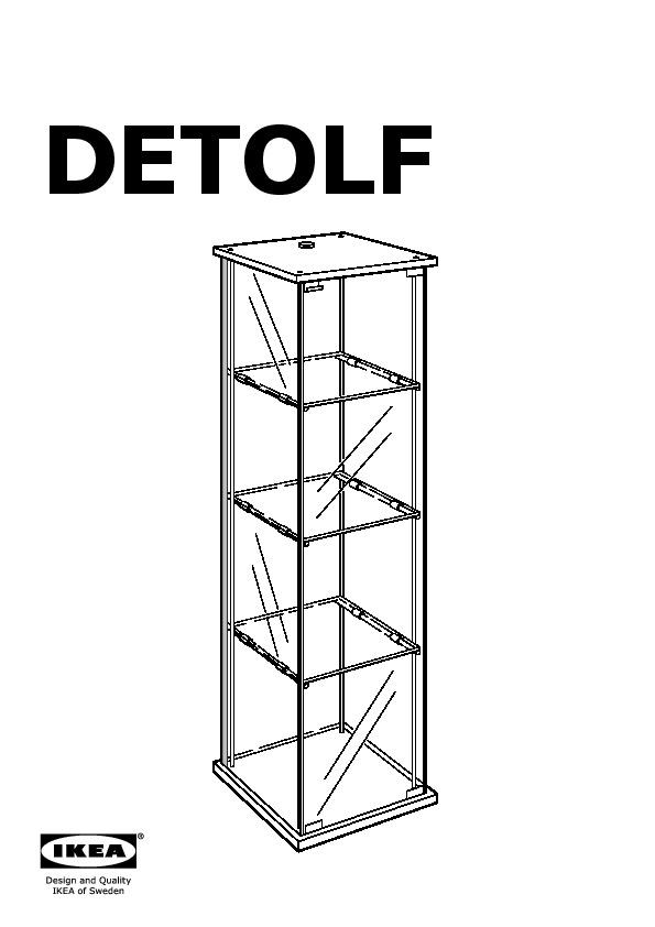 Vitrine Ikea detolf glass door cabinet black brown ikea canada