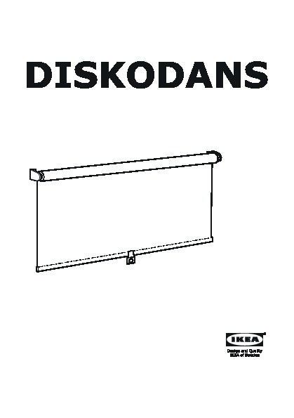 Diskodans Block Out Roller Blind White Light Grey Orange