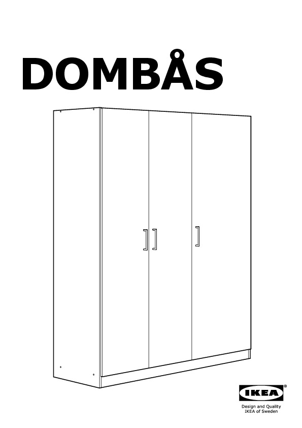 domb s wardrobe white ikea united states ikeapedia. Black Bedroom Furniture Sets. Home Design Ideas