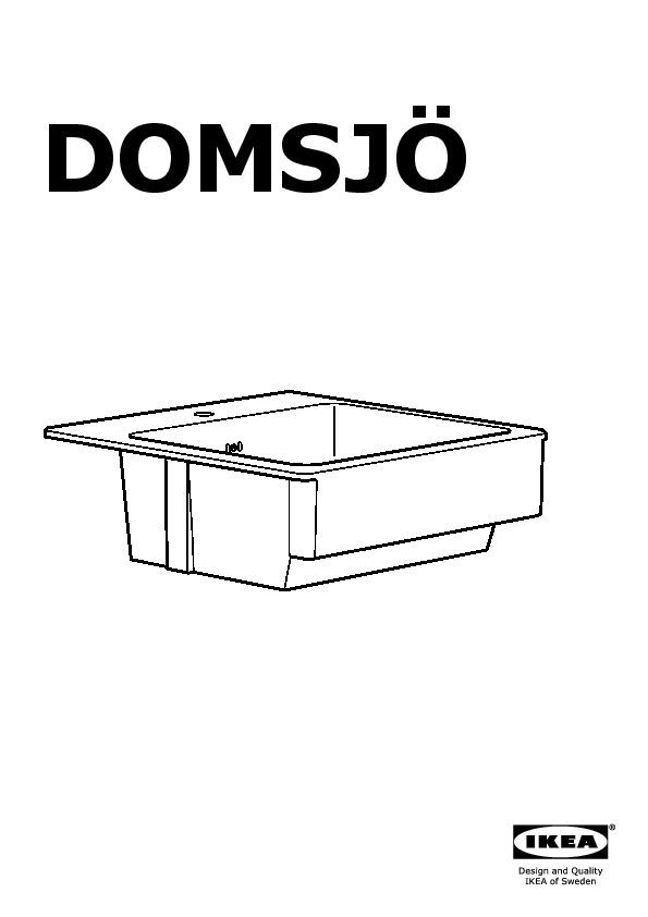 domsj vier poser 1 bac blanc ikea france ikeapedia. Black Bedroom Furniture Sets. Home Design Ideas
