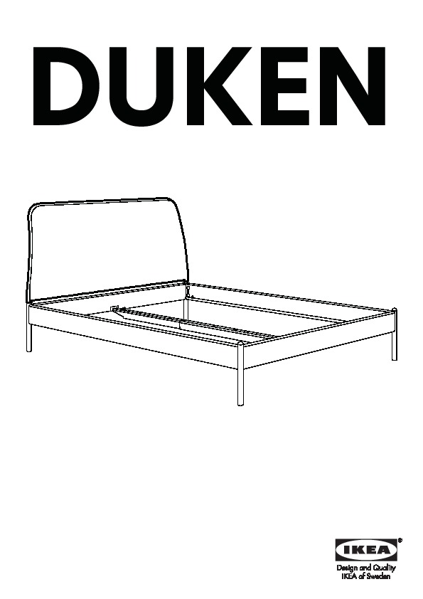 duken cadre de lit gris laxeby ikea france ikeapedia. Black Bedroom Furniture Sets. Home Design Ideas