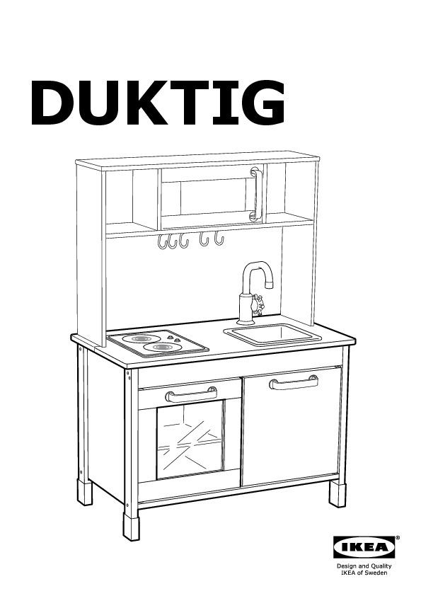 Ikea Duktig Mini Kitchen Birch Plywood White